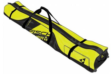 Sjezdové lyžování - Obal na lyže a boty Fischer ALPINE RACE 1 pár + kolečka - 195 cm