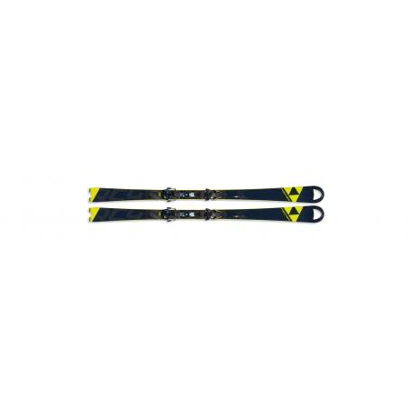 Sjezdové lyžování - Fischer RC4 WC SC CB YELLOW BASE + vázání RC4 Z13 FF 19/20