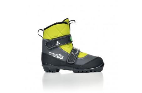 Běžecké lyžování - Běžecké boty Fischer SNOWSTAR BLACK YELLOW 2016/17