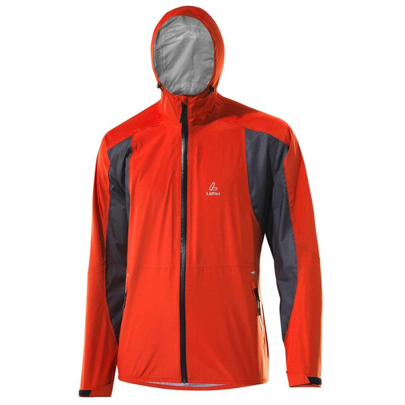 Pánská bunda Löffler Gore-Tex Active - Vel. 50 Oranžová