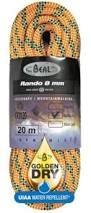 Lezecké vybavení - BEAL Rando 8mm golden dry 20m