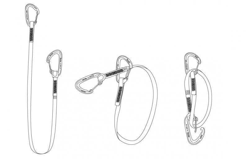Lezecké vybavení - Ocún KESTREL ST-SLING SET DYN 12, 80 cm