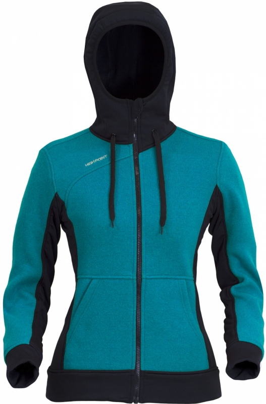 High Point Woolcan Lady Hoody - red S