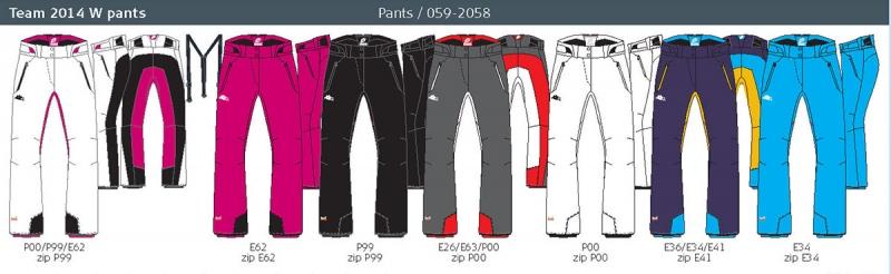 Lyžařské kalhoty Halti TEAM 2014 W - Vel. 40 Černá