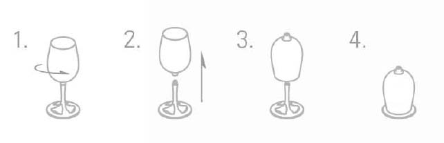 Turistické vybavení - GSI Outdoors Glacier Stainless Nesting Wine Glass