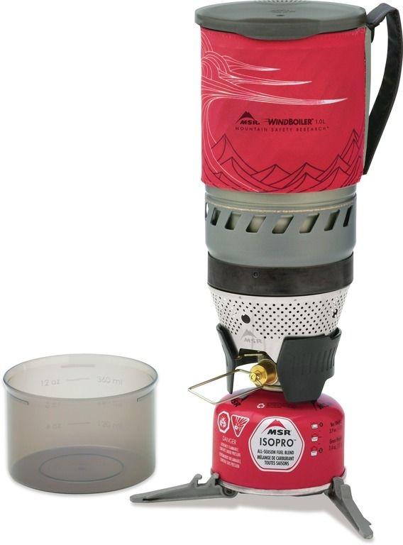 MSR WindBurner 1,0 l Stove System - červený 1 litr