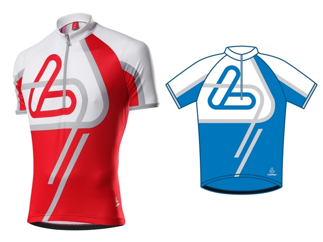 Löffler pánský cyklistický dres Active - Vel. 48 Modrá
