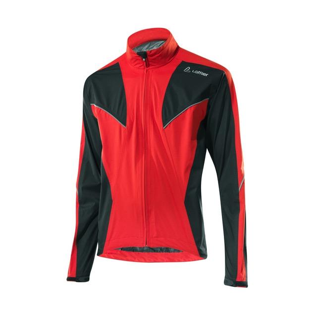 Löffler pánská cyklistická bunda Gore-Tex Colibri - Vel. 50 Červená/černá