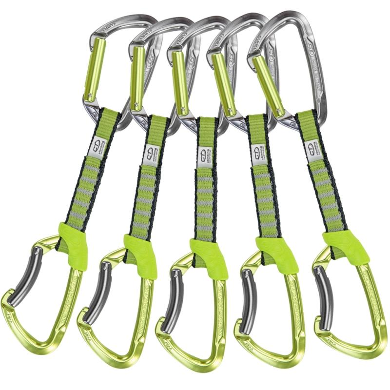 Lezecké vybavení - Climbing Technology 5x LIME SET NY 12cm Green/grey