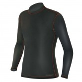 FIRST LAYER SHIRT MEN XA-10 THERMO FLEECE BLACK